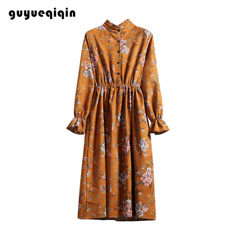 Dress women 2019 autumn long dress sleeve midi casual boho elegant