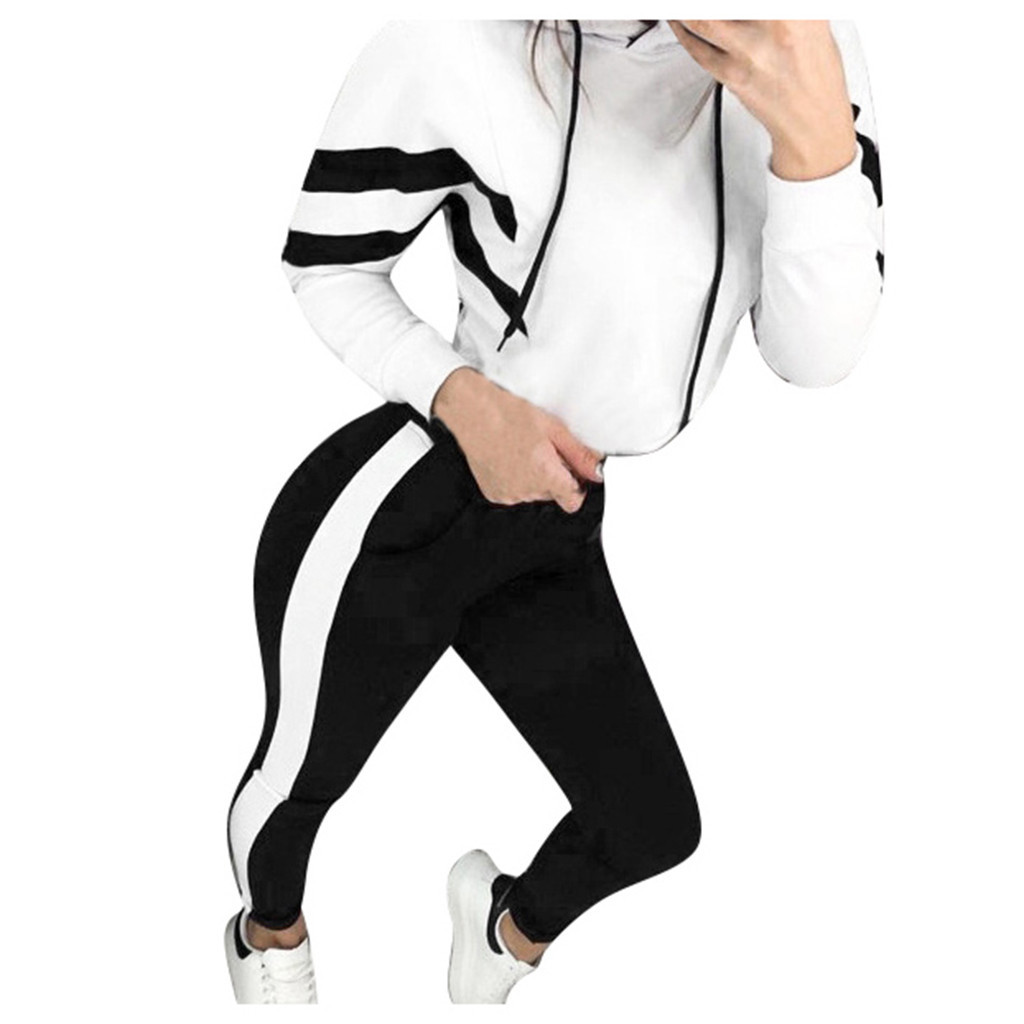 Autumn Women's Sportswear Hooded Hoodie Suit Two-Piece Set 5