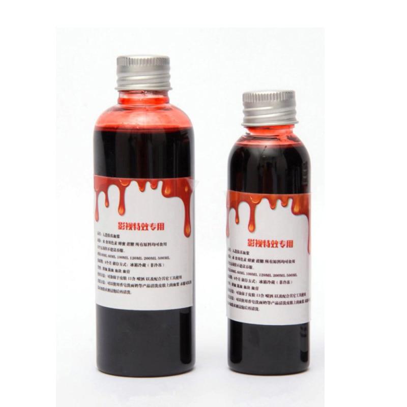 Hot Halloween Cos Ultra-realistic Fake Blood/simulation Of Human Vampire Human Hematopoietic / Props Vomiting Edible Pulp 2018