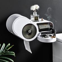Многоцелевой бумага полотенце туалет бумага держатель кухня рулон держатель +бесплатно штамповка салфетки коробка туалет бумага полотенце дозатор с пепельница