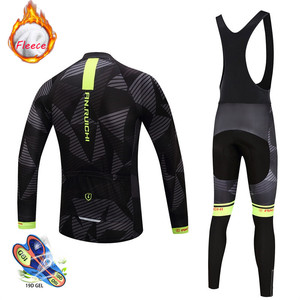 Image 4 - 2020 new Winter Thermal Fleece Cycling Jersey Set Breathable Ropa Ciclismo Men Long Sleeve MTB Bike Clothes Outdoor Sports Shirt