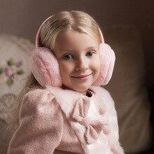 Детские зимние однотонные меховые наушники для мальчиков и девочек, теплые наушники и удобные модные лыжные детские наушники