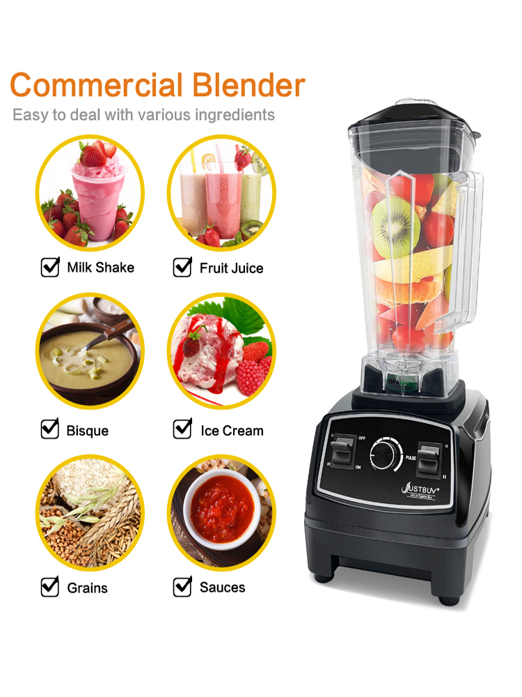 Blender Mixer Blade-Juicer Food-Processor Ice-Smoothie-Machine Heavy-Duty Professional