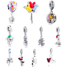 Ev balonlar terlik sihirli Charms boncuk kadınlar için DIY takı Fit Pandora bilezik 925 ayar gümüş orijinal Bijoux Femme