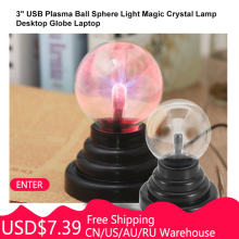 USB Plasma Ball Novelty Light Glass Electrostatic Sphere