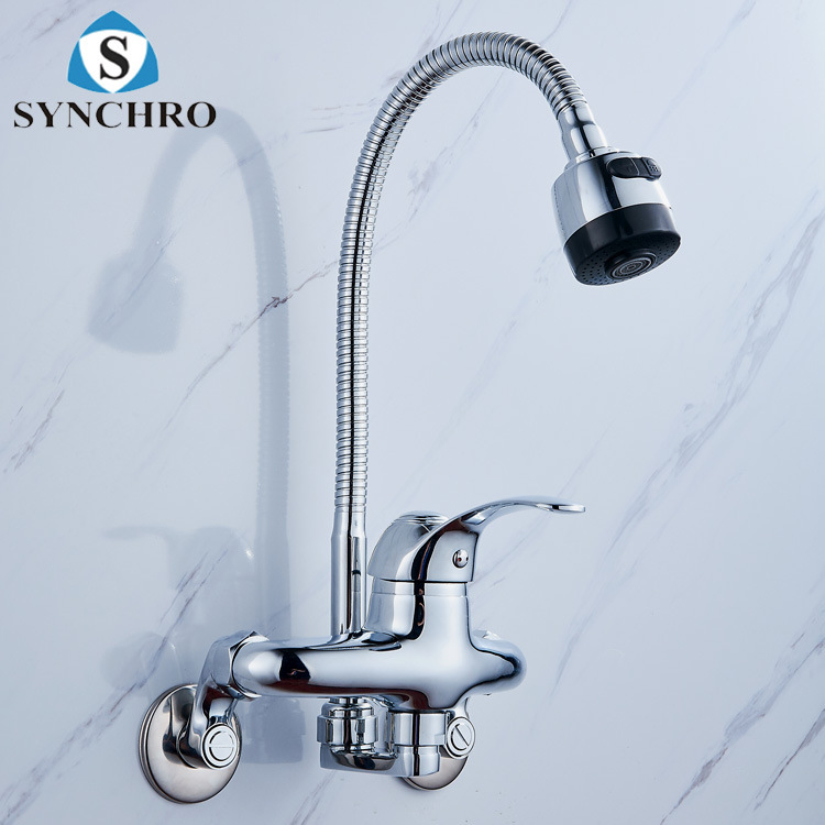 Hanging Wall-in Kitchen Faucet Mixed Cold Kitchen Faucet Universal Tube Kitchen Faucet