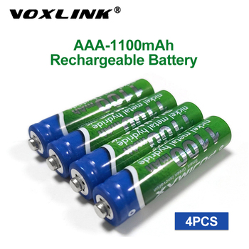 VOXLINK AAA Battery 1100mAh 1.2V 4PCS rechargeable battery pre-charged recharge ni mh rechargeable battery For camera microphone voxlink aaa battery 1 2v 1100mah 8pcs rechargeable battery pre charged recharge ni mh rechargeable battery for camera microphone