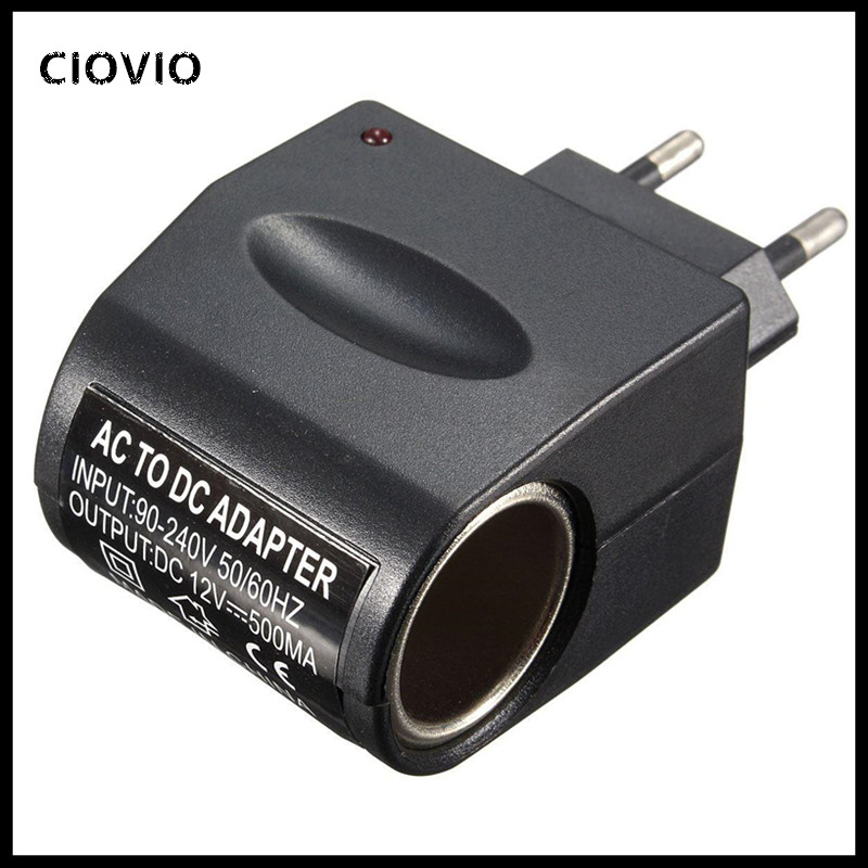 2PCS New <font><b>220V</b></font> AC <font><b>to</b></font> <font><b>12V</b></font> DC EU US <font><b>Car</b></font> Cigarette Lighter Socket Power <font><b>Adapter</b></font> Wall Plug Converter For <font><b>Car</b></font> Electronic Devices image