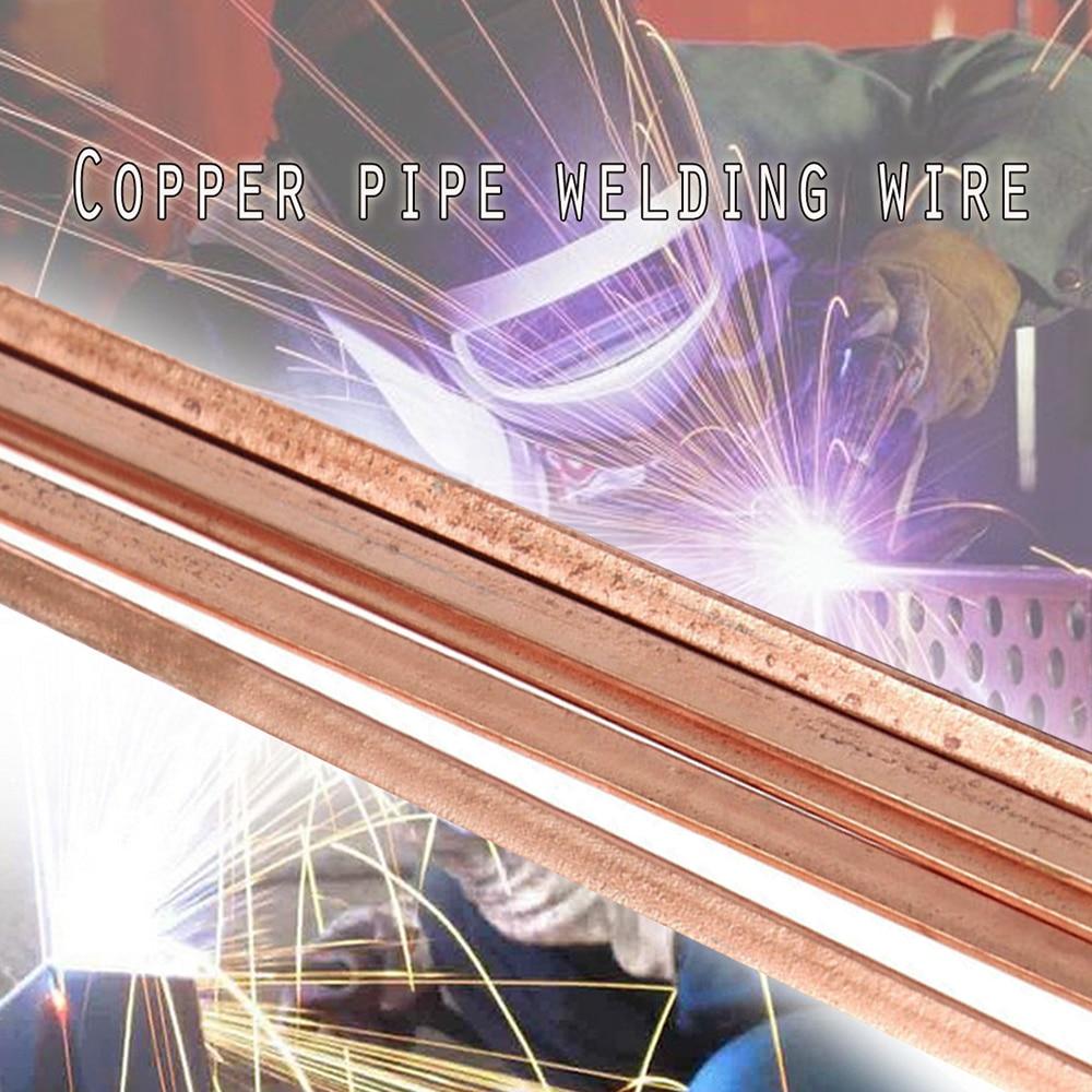 5pcs/10pcs Low Temperature Flat Soldering Rods For Welding Brazing Repair Copper Electrode Hot Sale Wholesale 400mm
