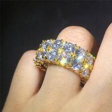 Модные Позолоченные мужские и женские кольца Стразы в стиле