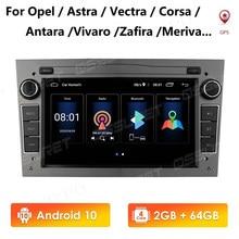 2G 64G Android 10 2 DIN nawigacja samochodowa GPS dla opla Vauxhall Astra H G Vectra Antara Zafira Corsa Vivaro Meriva Veda bez odtwarzacza DVD