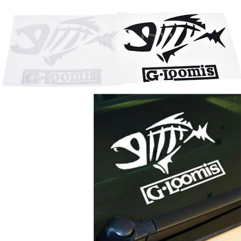 1 Pcs Fishing Decal Decor Cartoon Fishbone Stickerbomb Car Decor Decal 2 Colors image