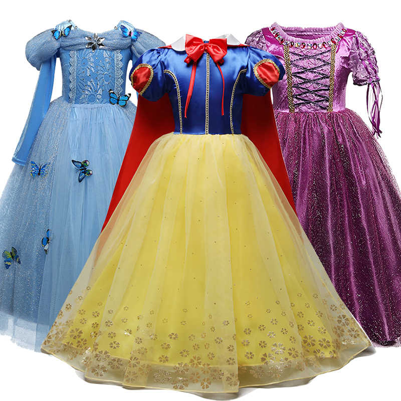 Giả Tưởng Quần Áo Bé Gái Công Chúa Trẻ Em Bé Gái Tiệc Hóa Trang Halloween Lọ Lem Trang Phục Trẻ Em Anna Elsa Cosplay Bé Gái Áo