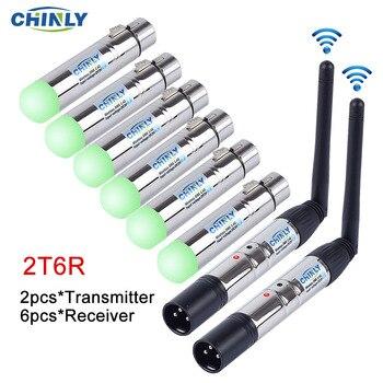 DMX512 émetteur récepteur d'éclairage sans fil 2.4G distance de Communication 300M contrôleur de lumière rvb pour contrôleur d'effet de scène