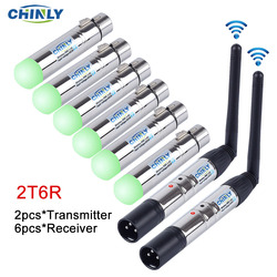 Transmisor receptor iluminación inalámbrico DMX512 2,4G distancia de comunicación 300M controlador de luz RGB para Controlador de Efectos de escenario