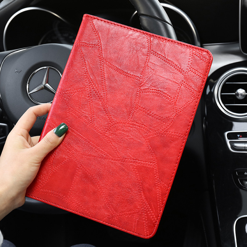 red Red Smart Case For iPad 2019 10 2 A2200 A2232 Luxury Business Silicon Leather Cover for ipad
