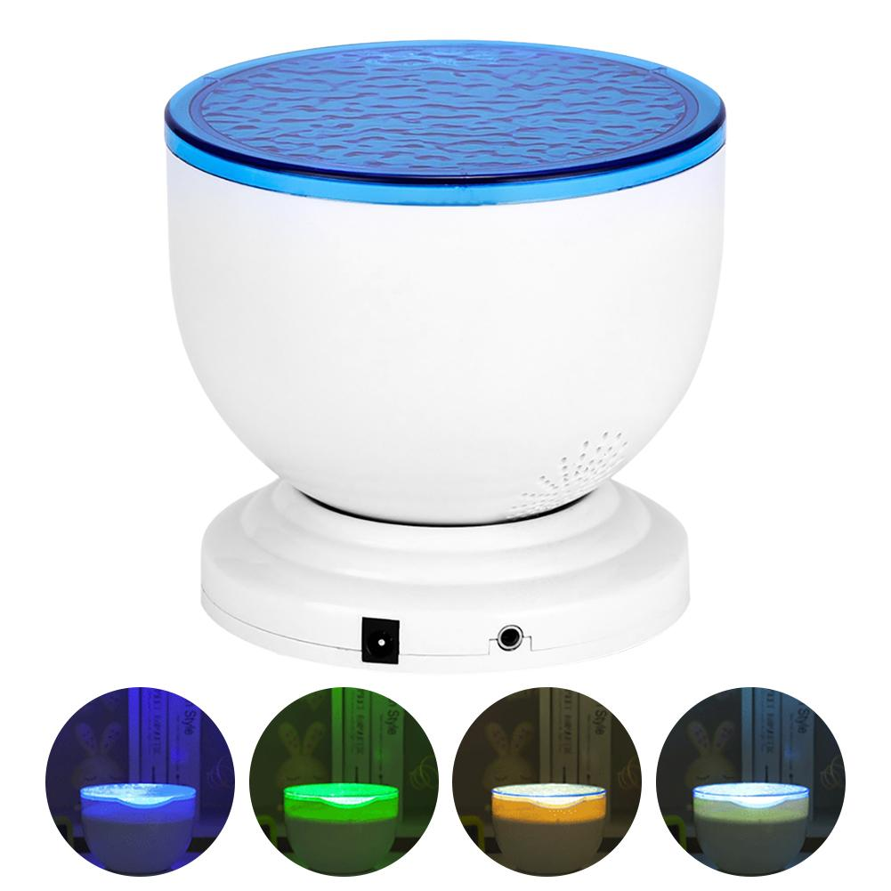 LED Star Projector Night Light Starry Night Lamp Ocean Wave Projector With Music Bluetooth Speaker Remote Control For Kids Gift
