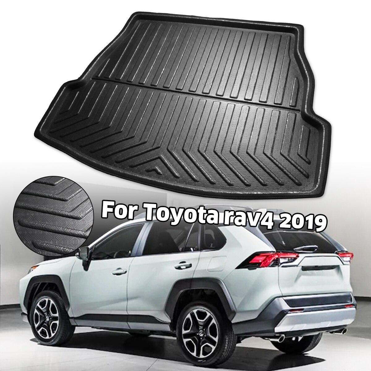 سيارة الخلفي حمولة حقيبة السيارة بطانة التمهيد صينية غطاء مات حصيرة سجادة أرضيات ركلة الوسادة لتويوتا RAV4 2019 2020 XA50