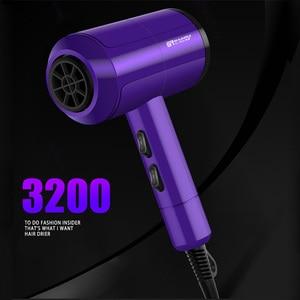 Image 5 - 3200 מקצועי שיער מייבש חם/קר רוח מהיר חום מייבש שיער סטיילינג כלים 220 240V מתח גבוה מכה מייבש שיער 40D