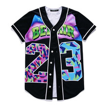 New Baseball Jersey TShirt Red Floral 3D Print Jacket Short Sleeve Men T-Shirt Button Shirt Slim Fit Hip Hop Streetwear Clothing short sleeve button up lion print baseball jersey