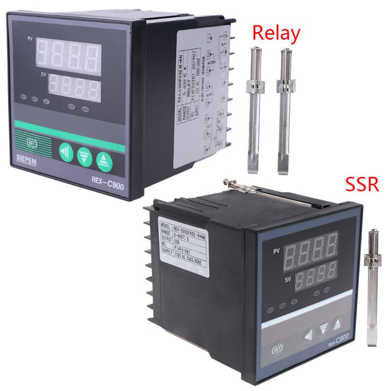 1PC <font><b>PID</b></font> Temperature Controller <font><b>REX</b></font>-<font><b>C900</b></font> K Input SSR Relay Output 96*96mm Thermostat Indoor Outdoor Temperature Measuring Tool image