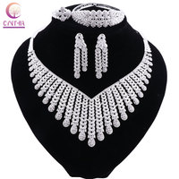 CYNTHIA Exquisite Luxury Dubai Jewelry sets of Silver Plated India Nigeria African Big Jewelry Accessories Jewelry Wholesale