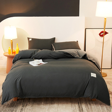 Bedding Sets High Quality Skin Friendly Fabric Duvet Cover Set Solid Color Single Double Queen King Size Quilt Cover Set
