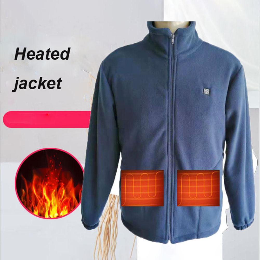 Men Warm Electric USB Heated Heating Jacket Winter Parka Coats Vest Driver 36-46