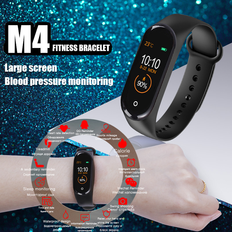<font><b>M4</b></font> <font><b>Smart</b></font> <font><b>band</b></font> Watch Sport bracelet Fitness Tracker Heart Rate Blood Pressure Smartband Monitor Health Wristband Fitness Tracker image