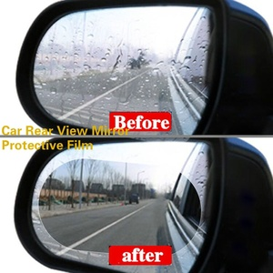 2pcs Car Rear View Mirror Protective Film Anti Fog Window Clear Rainproof Rearview Mirror Protective Soft Film Sticker(China)