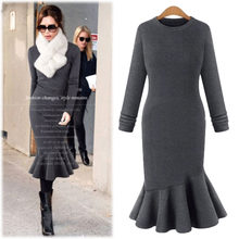 Ropa Autumn Casual Women Tricot Clothes Winter Woman Sweater Female Winter Sherpa Pullover Plus Size Fall Knitted Sweater Dress(China)
