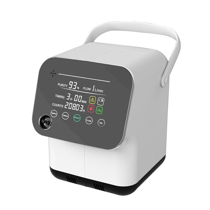 Full Touch Bildschirm Sauerstoff Konzentrator 1-7L/min Einstellbar Intelligente Stimme Sauerstoff Maschine Luftbefeuchter Mit Anion Funktion