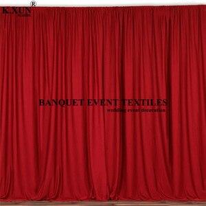 Image 1 - צבעוני פנל פוליאסטר חתונה וילון רקע חלקה שלב רקע אירוע מסיבת תפאורות קישוט