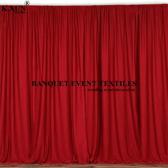 צבעוני פנל פוליאסטר חתונה וילון רקע חלקה שלב רקע אירוע מסיבת תפאורות קישוט