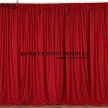 Bunte Panel Polyester Hochzeit Hintergrund Vorhang Nahtlose Bühne Hintergrund Event Party Kulissen Dekoration
