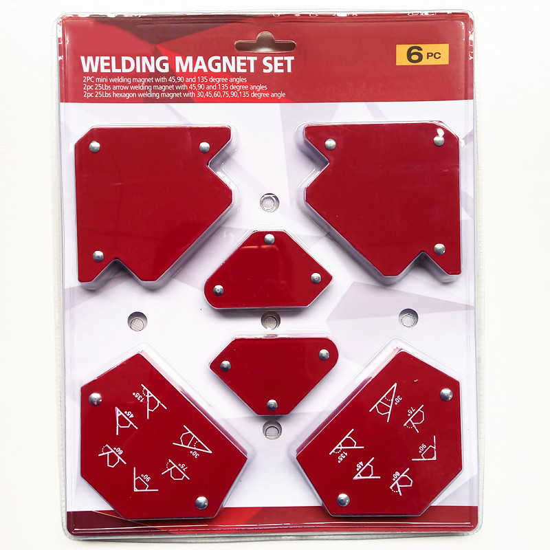 6Pcs Welding Positioner Triangle Magnetic Fix Angle Soldering Locator Metal