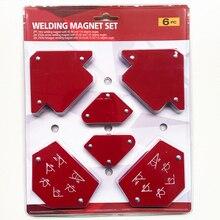 6 Stks/set Driehoek Lassen Klepstandsteller Magnetische Vaste Hoek Solderen Locator Tool Zonder Schakelaar Lassen Accessoires