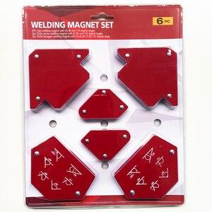 Image 1 - 6 sztuk/zestaw trójkąt pozycjoner spawalniczy magnetyczny stały kąt lutowania lokalizator narzędzie bez przełącznika akcesoria spawalnicze
