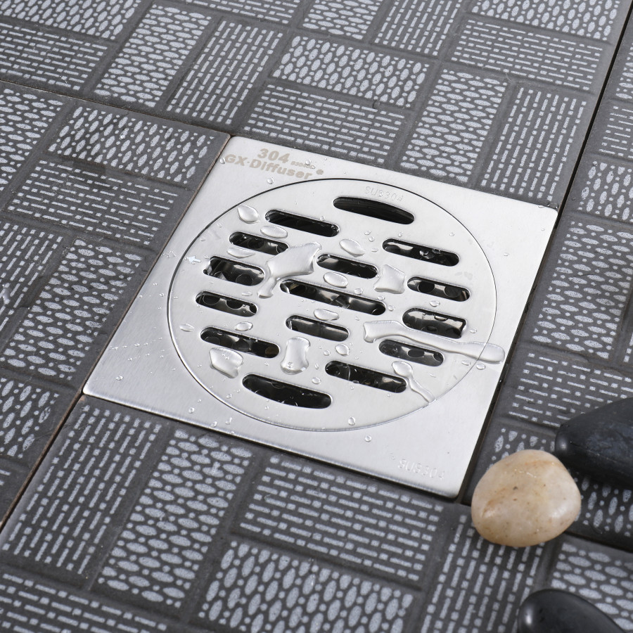 Floor Drain Stainless Steel Square Linear Shower Floor Drain