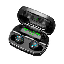 Ralyin Bluetooth earphone V5.0 TWS wireless earphone power display true wireless earbuds 4 hours music 2200 mAh charging case(China)