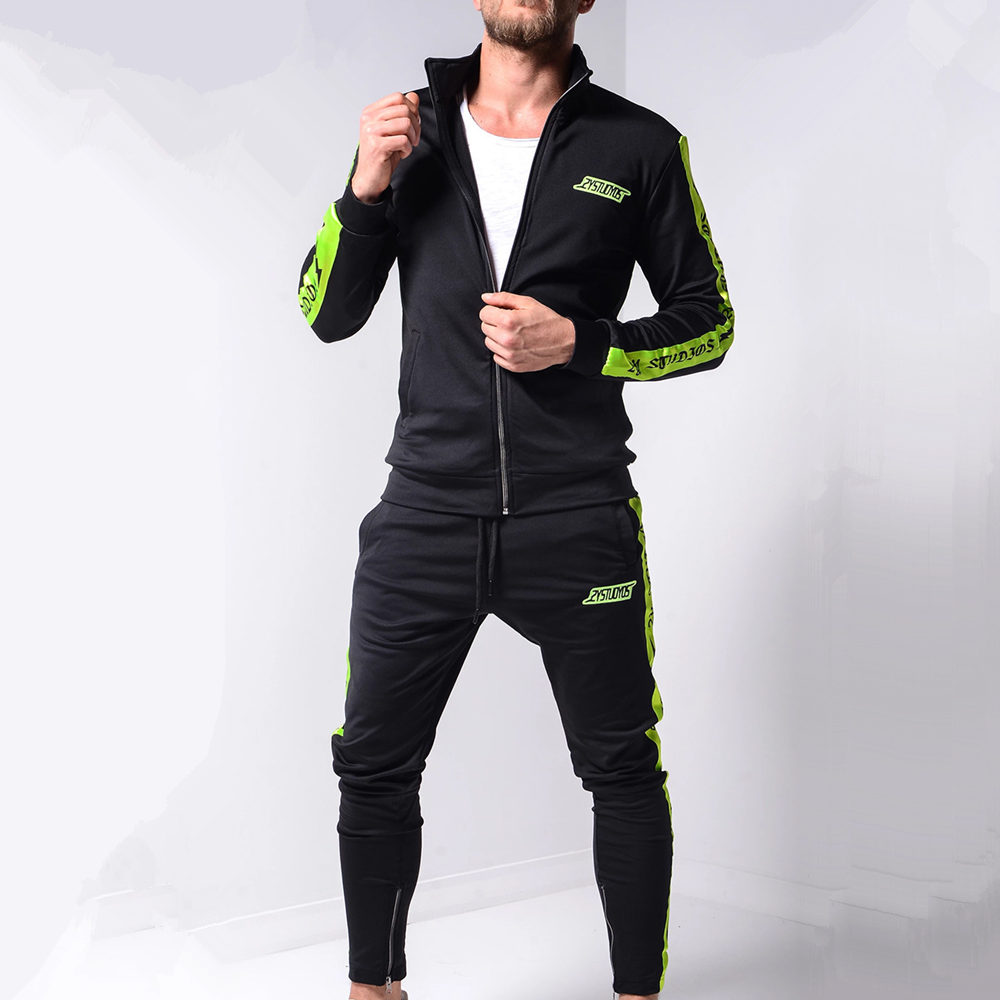 New Mens 2PCS Activewear Jogging Suits Coat Running Tracksuit Sport Jacket Pants