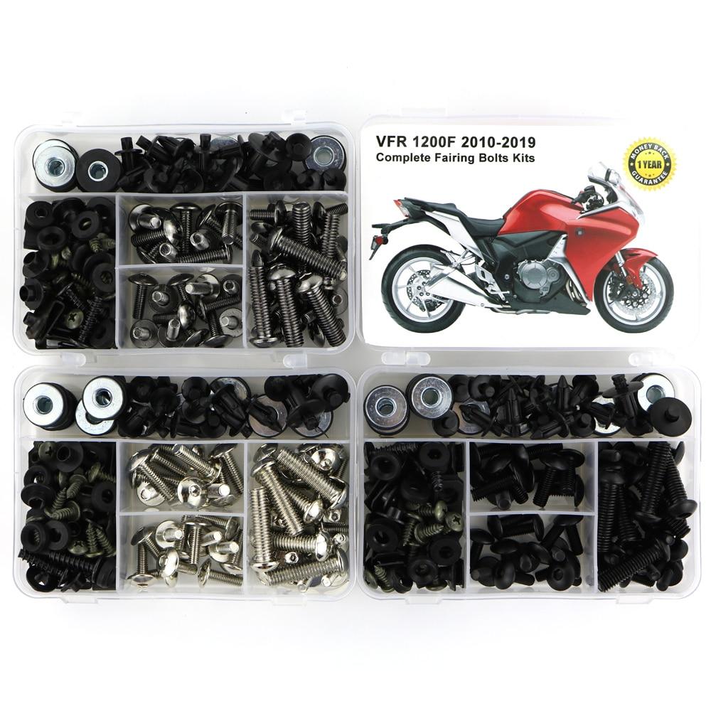 For Honda VFR 1200F VFR1200F 2010 2019 Motorcycle Full Fairing Bolts Kit Complete Fairing Clips Speed Nuts Steel|Full Fairing Kits| |  - title=
