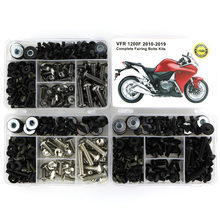 For Honda VFR 1200F VFR1200F 2010-2019 Motorcycle Full Fairing Bolts Kit Complete Clips Speed Nuts Steel With OEM Style
