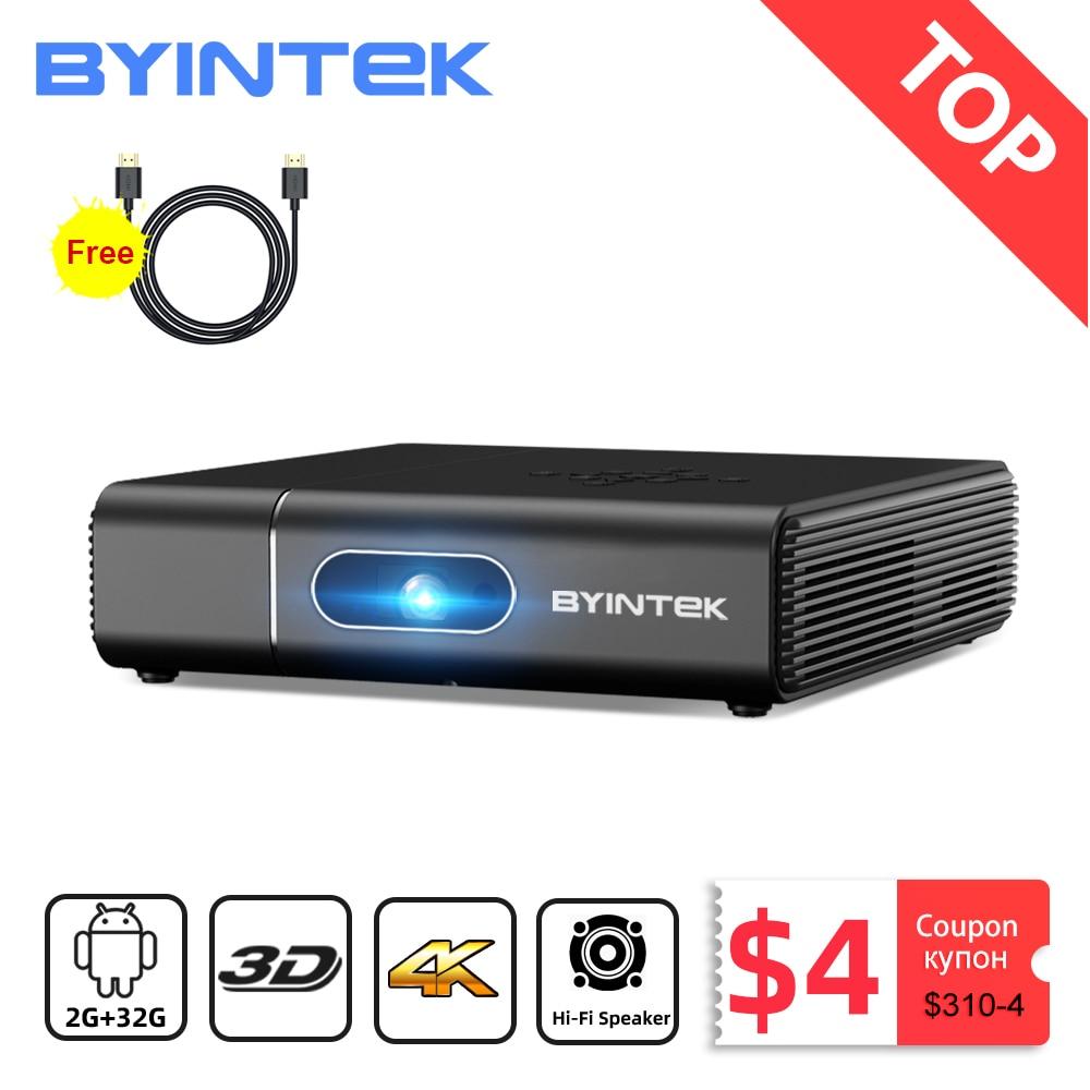 Бренд BYINTEK U30 Full HD высокой четкости 1080p 2К 3D и 4K Android смарт-WiFi портативный лазерный домашний кинотеатр светодиодный проектор DLP мини-проектор