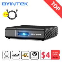 BYINTEK-miniproyector U30 Full HD, proyector LED DLP para PC, teléfono móvil, 1080P, 2K, 3D, 4K, Android, Smart TV, wi-fi, portátil para el hogar