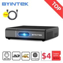 BYINTEK U30 Full HD1080P 2K 3D 4K Android Smart Wifi 300 polegada Mini Projetor portátil laser Home Theater led dlp Proyector Beamer