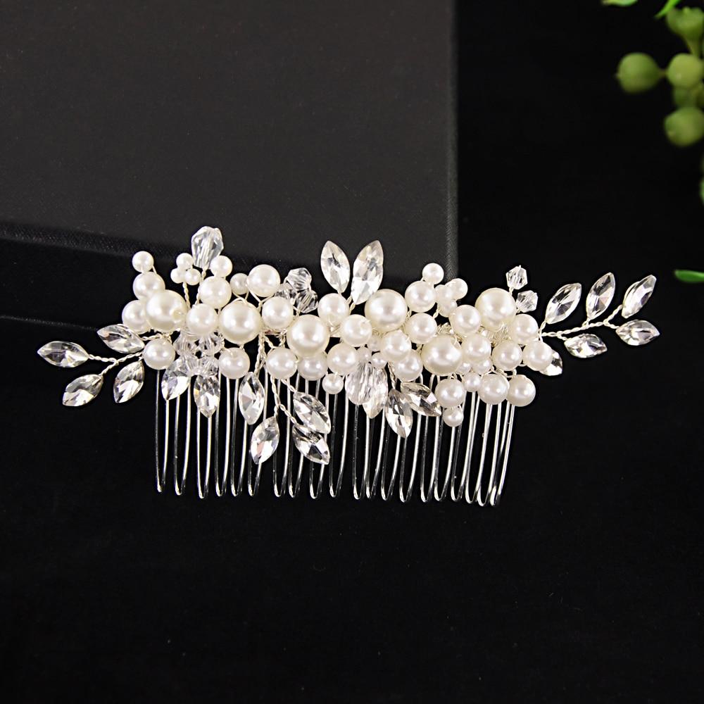 TRiXY H13 Rhinestone Hair Comb Bridal Accessories Pearl Hair Comb Wedding Hair Clip Bridal Hair Jewelry Hair Ornaments Headpiece