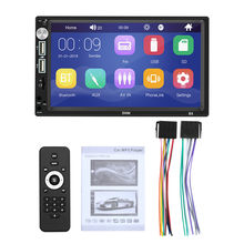 "Car Radio MP5 Player HD 7"" Touch Screen Stereo Bluetooth 12V 2 Din FM ISO Power Aux Input Auto SD USB U disk 800*480 resolution(China)"