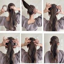 Horquilla mágica con Clip de tiburón para el cabello, herramienta trenzadora Simple para el cabello para mujer, pinzas para el cabello para mujer, diadema, Accesorios para peinados