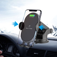 NTONPOWER 10W Qi Wireless Car Charger for Phone Samsaung Fast Wireless Charger Car Phone Holder in air vent and Suction Cup|Car Chargers| |  -